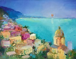 Positano VI by Anna Gammans -  sized 18x14 inches. Available from Whitewall Galleries